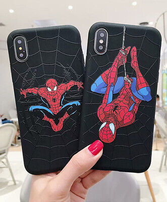 Soft TPU Spider Man Protect Case Cover For iPhone XS MAX XR X 8 7 6 6s Plus