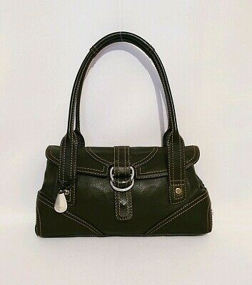 Tula Black Genuine Leather Shoulder Bag Handbag Small Medium Size Womens Ladies