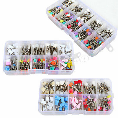 100 Pcs Nylon Latch Flat Polishing Dental Prophy Brushes Cups Kit Mixed Color 3T