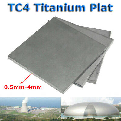 New TC4/GR5 Titanium Alloy Plate Panel Sheet Durable Metal 0.5mm~4mm Thickness