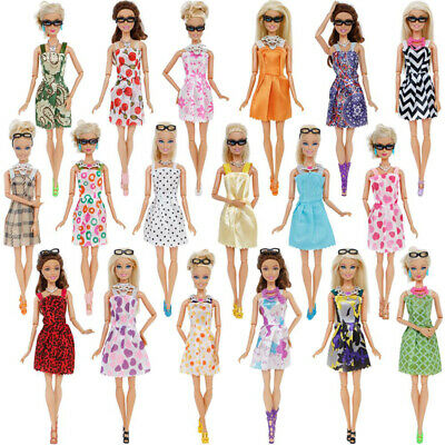 For Barbie Doll Dresses, Shoes and jewellery Clothes Accessories 20 Item/Set