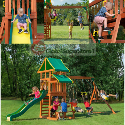 Backyard Discovery Swing Set Tucson Cedar Wooden Outdoor