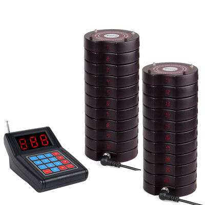 Restaurant SU668 Cafe Food Truck Wireless Paging Calling System 999CH+20*Pagers