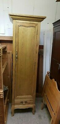 New Solid Oak French Style Single Door Slim Wardrobe With Drawer Delivery Avail