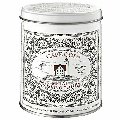 Cape Cod Metal Polishing Cloths Economy Size Tin - 12 Cloths and Buffing Cloth