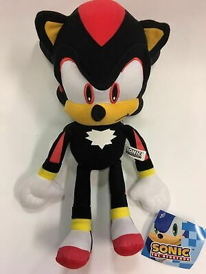 """Sonic the Hedgehog NEW Official Super Shadow 12/"""" Stuffed Plush Toy GE-52631"""