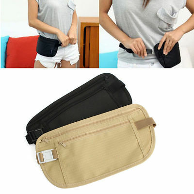 Security Money Waist Travel Pouch Hidden Passport ID Holder Compact Belt Bag New