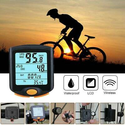 Newest Bike Bicycle LCD Cycle Computer Odometer Wireless Speedometer Waterproof