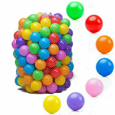 200X Kids Baby Child Soft Play Fan Balls Toy for Ball Pit Swim Pool Large 5.5CM