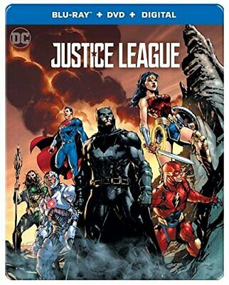 Justice League (Blu-ray/DVD/Digital, NEW, 2018, with SteelBook Only Best Buy)