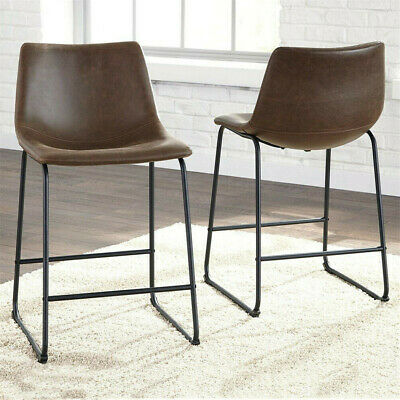 2pcs Bar Stool Steel Foot Rest Cafe Chair Kitchen Breakfast Seat Durable Stools