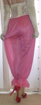 Vintage inspired Victorian~Edwardian style candy pink bloomers~culottes