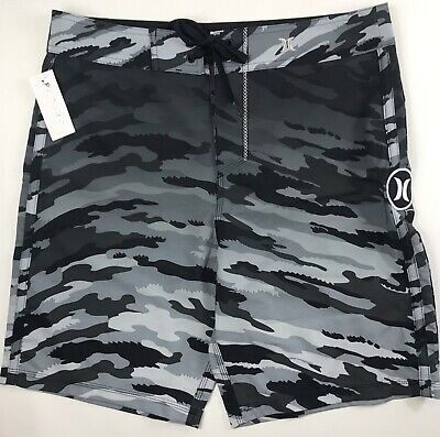 "3fae8bd509 NWT HURLEY HEATHER Volley 17"" Boardshorts/Swim Shorts Light Photo ..."