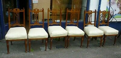 Set 6 Antique Dining Chairs Recently Refurbished Also Listing 2 Similar If Need8