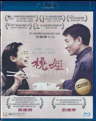 A Simple Life (Blu-ray Disc, 2012, Hong Kong, Widescreen) Andy Lau - Deanie Ip
