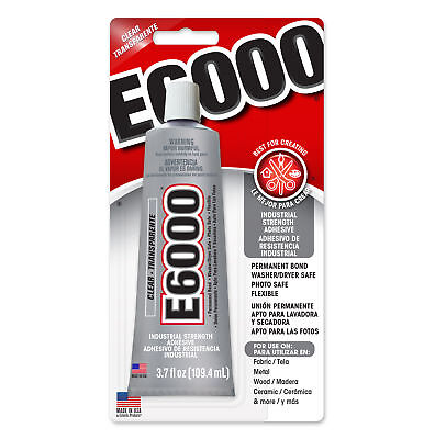 E6000 Multi Purpose Industrial Strength Adhesive Glue Clear 3.7fl oz 109.4ml USA