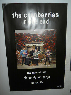 "THE CRANBERRIES IN THE END RARE 2019 PROMO POSTER 20"" x 28"" APPROX"
