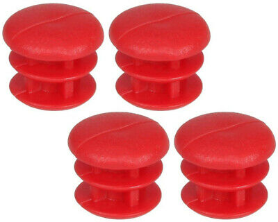 Go Kart Rubber Cap For 12mm Tube Red x 4 Karting Race Racing