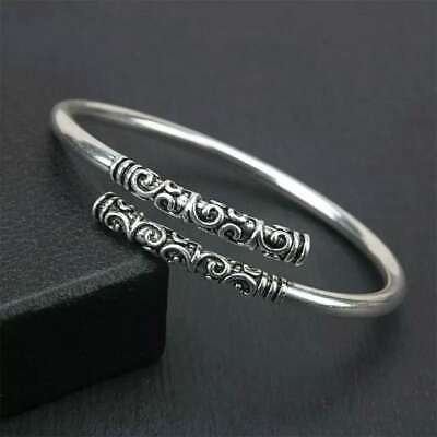Men Jewelry Thai Silver Vintage Women Bangle Bracelet Open Cuff For Party Gift