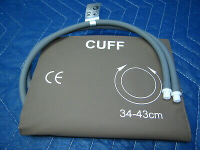 34-43cm Reusable Adult Large Blood Pressure Cuff Dual Tube with Screw Fittings