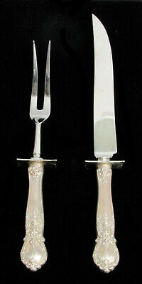 Web Sterling Silver Handles With Sheffield England Blades Carving Set