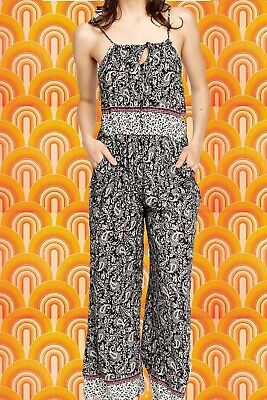 Overall Jumpsuits Catsuits Boho Neckholder Hose Playsuits GR:36//38//40//42 Paisley