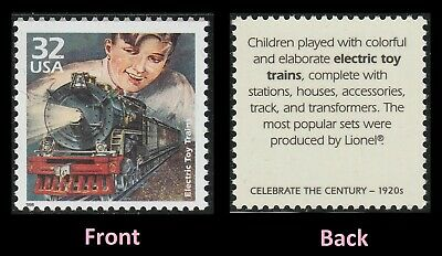US 3184d Celebrate the Century 1920s Electric Toy Trains 32c single MNH 1998