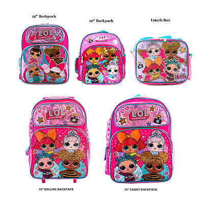 L.O.L Surprise! Backpack, Lunch Box School Travel Bag 4 Dolls (not Combo)