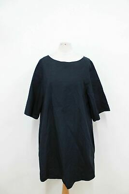 a14c4f7b83e1 COS Ladies Dark Blue Cotton Boat Neckline 3/4 Sleeved Shift Dress EU36 UK8