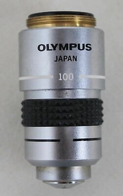OLYMPUS DPlan 100 1.25 Oil 160/0.17 Lens For Olympus Objective E12 Microscope