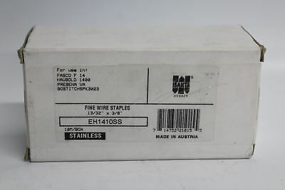 "BNIB ISANTA 10,000 Stainless Steel Fine Wire Staples  13/32"" x 3/8"" Galvanized"