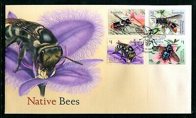 2019 Native Bees (Gummed Stamps) FDC - Post Marked Werribee Vic 3030