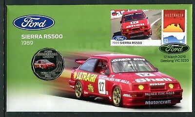 2019 Ford 1989 Sienna RS500 FDC/PNC With Coloured RAM 50c Coin