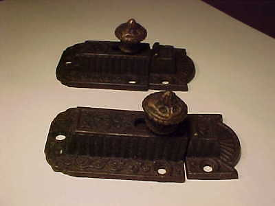 Antique 1870'S Cupboard Hardware  2 Pieces