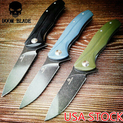 D2 Blade Ball Bearing Knives G10 Handle Folding Knife Hunting Outdoor Survival