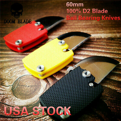 D2 Blade Ball Bearing Knives G10 Handle Folding Knife Survival Utility Bushcraft