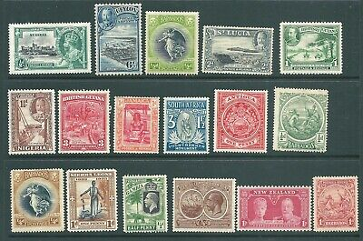 BRITISH COLONIES George V mint stamp collection: Larger types