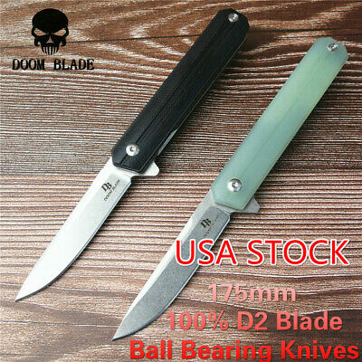Ball Bearing Knives Folding Knife G10 Handle Camping Knife Hunting Hiking Fishin