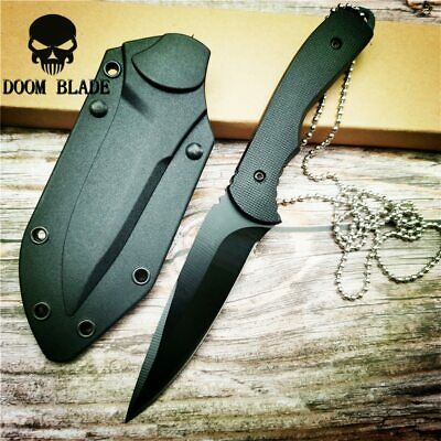 Fixed Blade Knife G10 Handle Tactical Camping Surviving Knife &ABS Sheath Knives