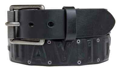 Harley-Davidson Men's Anarchy Rivet Belt, Black Leather Belt HDMBT10854-BLK