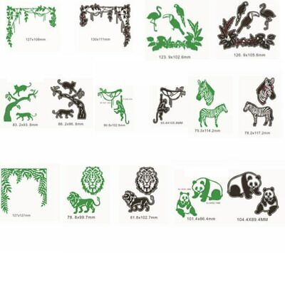 Various Animals ZOO Branches Metal Cutting Dies Stencil Scrapbooking Embossing
