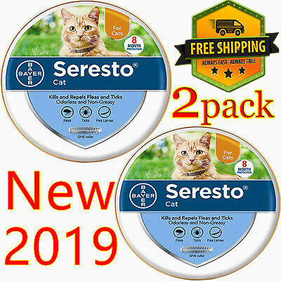 Seresto flea and tick collar for Your Cute Cats, Home protect,Free ship 2 pack