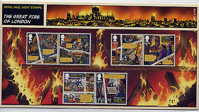 GB 2016 GREAT FIRE of LONDON PRESENTATION PACK No.531
