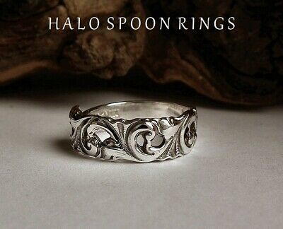 Very Pretty Norwegian Silver  Spoon Ring The Perfect Gift Idea