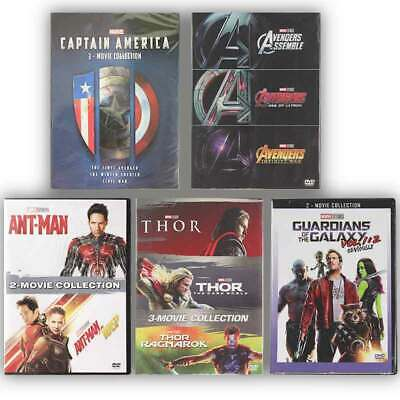 Pick 5 Marvel Lot Avengers Captain America Thor Ant-Man and the Wasp DVD Movie