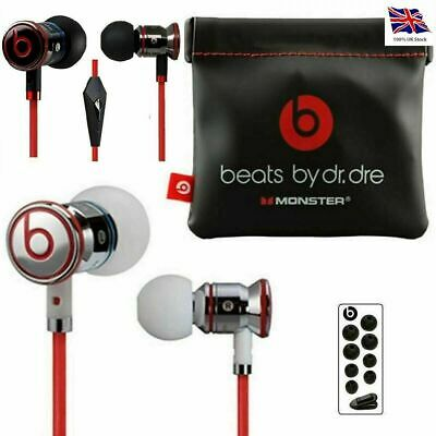 Genuine Monster Beats by Dr Dre iBeats  In Ear Headphones Earphone Black/White