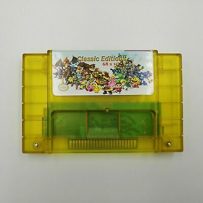 68 in 1 SNES Super Nintendo Multi Cart Game Cartridge Battery Save Free Shipping