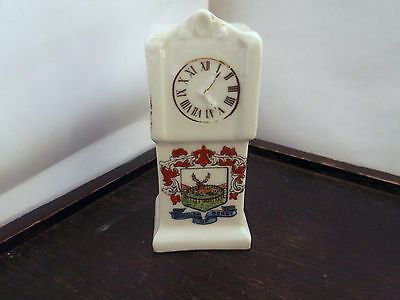 Miniature Grandfather Style Clock  Crested Borough Of Derby   No Maker