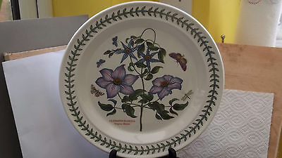 PORTMEIRION BOTANIC GARDEN DINNER PLATE VIRGINS BOWER  FACTORY 2nd