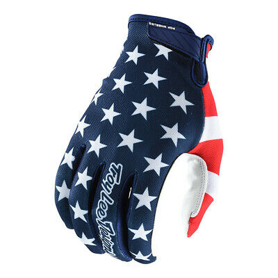 Troy Lee Designs Air Americana Hombre MX Offroad Guantes Azul